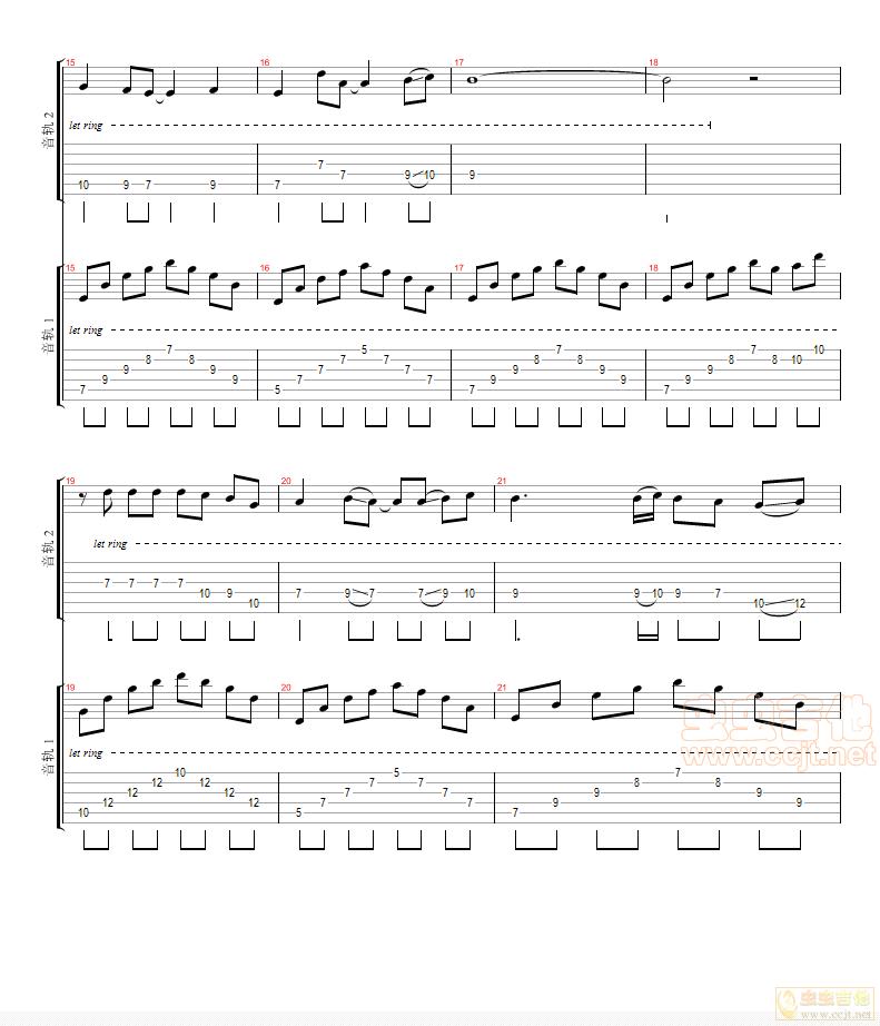 花鼓戏调曲谱鬼拖脚-殇 吉他二重奏G调六线 独奏吉他谱 虫虫吉他谱免费下载