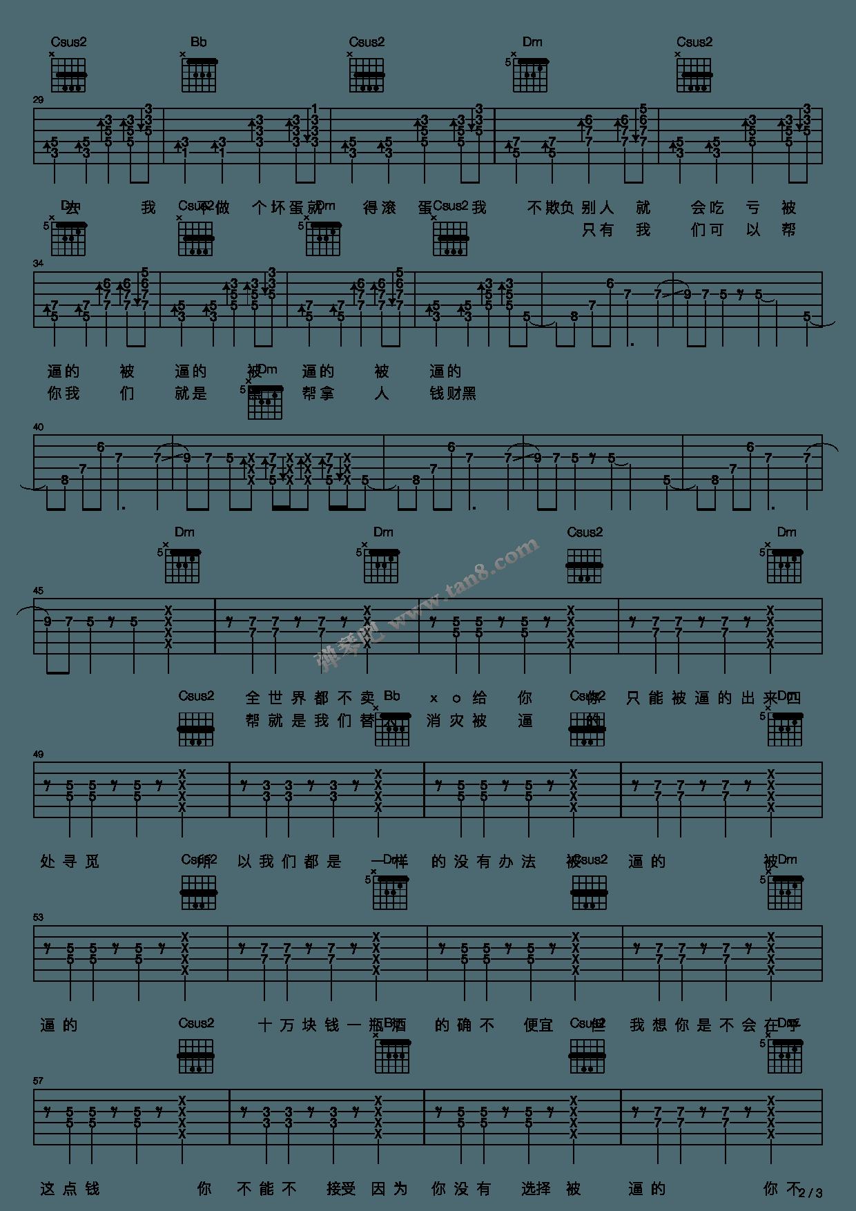 郝浩涵吉他谱_《Beat it》,郝浩涵(六线谱 调六线吉他谱-虫虫吉他谱免费下载