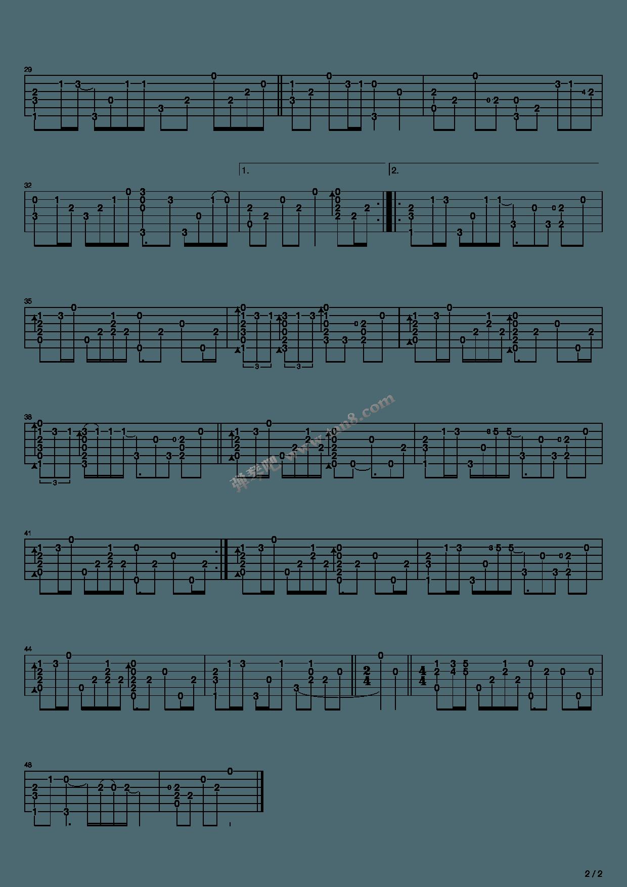 卢家宏神话吉他谱_《美丽的神话(指弹版,卢家宏)》,卢家宏(六线谱 调六线 ...